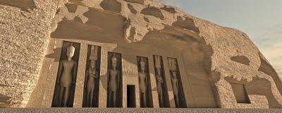 egyptisk rotation royaltyfri illustrationer