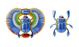 egyptisk scarab Arkivbilder