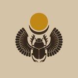 egyptisk scarab Royaltyfri Bild