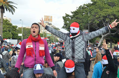 egyptisk seger för exponeringsprotestortecken Royaltyfri Fotografi