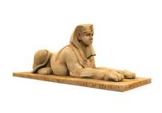 Egyptisk sfinxstaty Fotografering för Bildbyråer
