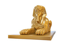 Egyptisk sfinxstaty Arkivbild