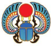 Egyptisk skarabé royaltyfri illustrationer