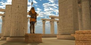 Egyptisk staty av Horus vektor illustrationer