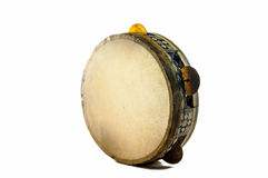 Egyptisk tamburin som göras av kamelhud Arkivfoton
