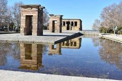 Egyptisk tempel Debod i Madrid Spanien Royaltyfri Fotografi