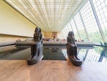 Egyptisk tempel på som möts i New York Arkivfoton