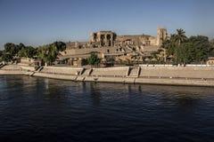 Egyptisk tempel, sten Royaltyfria Foton