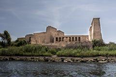 Egyptisk tempel, sten Arkivfoto