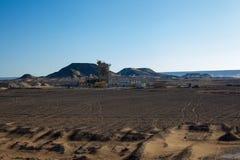 Egyptiska ökenplatser Fotografering för Bildbyråer