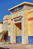 Egyptiska garneringar i Kartbok Korporation studior i Ouarzazate, Marocko Arkivbilder