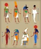 Egyptiska gudsymboler vektor illustrationer