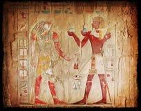 egyptiska hieroglyphics Arkivfoton