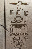 egyptiska hieroglyphics Royaltyfri Fotografi