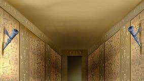 egyptiska hieroglyphics vektor illustrationer