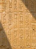 egyptiska hieroglyphics Fotografering för Bildbyråer