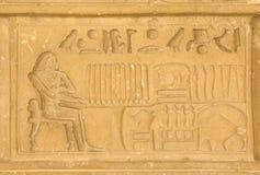 Egyptiska hieroglyphics från saqqarah, cairo Royaltyfria Foton