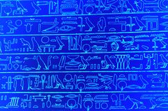 egyptiska hieroglyphs vektor illustrationer