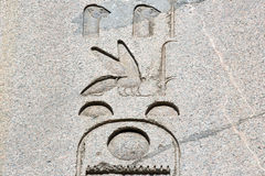 egyptiska hieroglyphs Arkivfoto