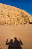 Egyptiska jättepharaohs för forntida tempel Royaltyfria Foton