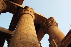 Egyptiska kolonner arkivbilder