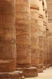 egyptiska kolonner Arkivfoto