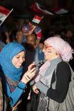 Egyptiska kvinnor som delar revolutionen Royaltyfria Foton