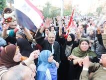 Egyptiska kvinnor som delar revolutionen Royaltyfri Bild