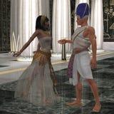 Egyptiska par vektor illustrationer