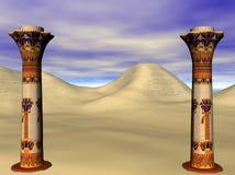 egyptiska pelare Royaltyfria Bilder
