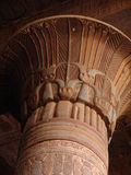 egyptiska pelare arkivfoto