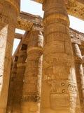 egyptiska pelare Fotografering för Bildbyråer