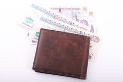 Egyptiska pengar och plånbok royaltyfri foto
