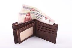 Egyptiska pengar och plånbok fotografering för bildbyråer