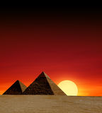 egyptiska pyramider arkivfoton