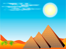 egyptiska pyramider Stock Illustrationer