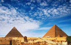 egyptiska pyramider Arkivfoto