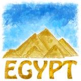 Egyptiska pyramider Royaltyfri Fotografi