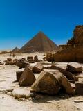 egyptiska pyramider Fotografering för Bildbyråer