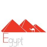 egyptiska pyramider Royaltyfri Bild