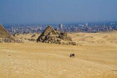 Egyptiska pyramider, egyptiska pyramider Royaltyfria Foton