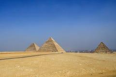 Egyptiska pyramider, historiska platser Royaltyfri Fotografi