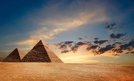 egyptiska pyramyds Arkivfoton