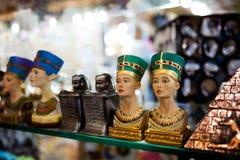 egyptiska statyer Arkivbilder