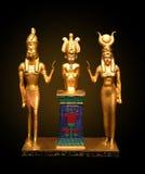 egyptiska statyer Royaltyfri Bild