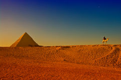 egyptiska stora pyramider Arkivbild