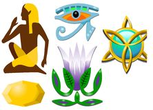 egyptiska symboler Arkivfoto