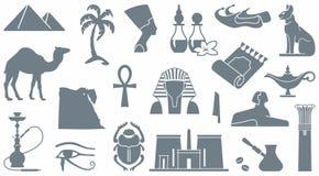egyptiska symboler Arkivbilder