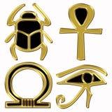 egyptiska symboler Arkivbild