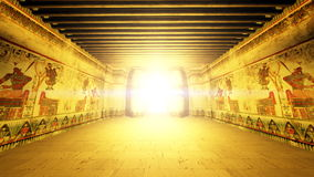 egyptiska tombs Arkivfoton